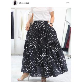 Drawer - 新品 SHE Tokyo スカート michell dot 34-36 黒