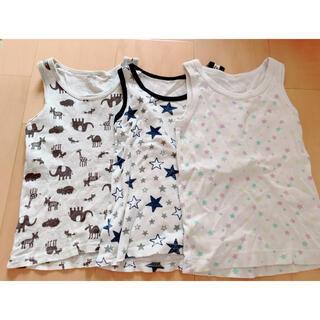コンビミニ(Combi mini)の男の子 女の子兼用 タンクトップ3枚 90サイズ ベビー(下着)