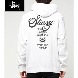 STUSSY - ステューシー STUSSY メンズ XL パーカー ワールドツアー ホワイト