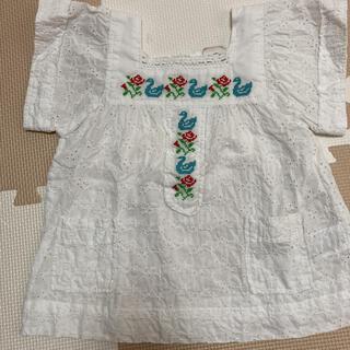 プチジャム(Petit jam)の美品 プチジャム レースカットソー 110(Tシャツ/カットソー)