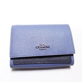 COACH - ■COACH 二つ折り財布 ブルー