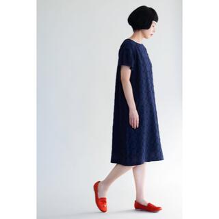 mina perhonen - 【新品未使用】ミナペルホネン タンバリンワンピース ネイビー サイズ36
