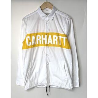 カーハート(carhartt)のカーハート WIP 文字ロゴ ドローコード 長袖シャツ 白黄 S(シャツ)