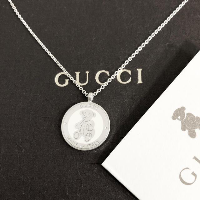Gucci(グッチ)の正規品 グッチ ネックレス テディベア クマ くま 銀 シルバー SV925 熊 レディースのアクセサリー(ネックレス)の商品写真