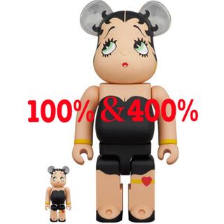 メディコムトイ(MEDICOM TOY)のBE@RBRICK Betty Boop BLACK Ver.100%&400%(その他)