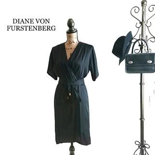 DIANE von FURSTENBERG - DIANE VON FURSTENBERG ワンピース ブラック シルク混