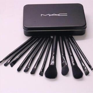 マック(MAC)のMac メイクブラシ 12本 ケース付き(ブラシ・チップ)