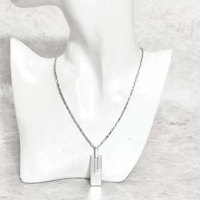 Gucci(グッチ)の正規品 グッチ ネックレス プレート シルバー SV925 銀 L チェーン メンズのアクセサリー(ネックレス)の商品写真