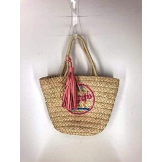 キャセリーニ(Casselini)のCasselini(キャセリーニ) カゴ刺繍フリンジストラップトートバッグ(ハンドバッグ)
