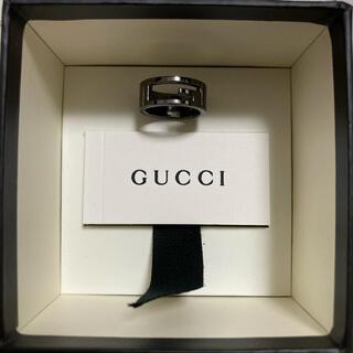 グッチ(Gucci)のGUCCI Gリング ブラック 13号(リング(指輪))