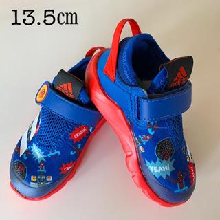 アディダス(adidas)のアディダス スパイダーマン キッズサマースニーカー(スリッポン)