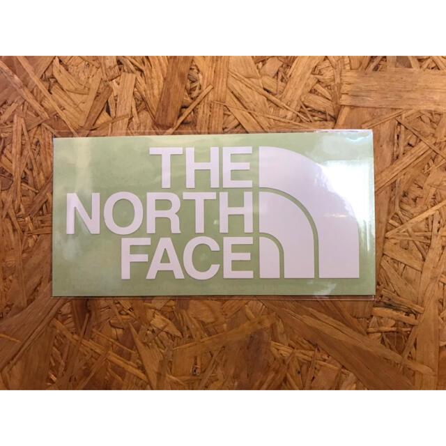 THE NORTH FACE(ザノースフェイス)のノースフェイス カッティングステッカー 白 正規品 スポーツ/アウトドアのアウトドア(その他)の商品写真