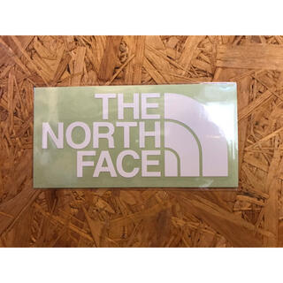 THE NORTH FACE - ノースフェイス カッティングステッカー 白 正規品