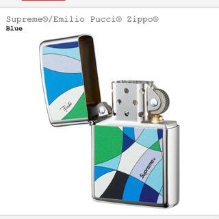シュプリーム(Supreme)のsupreme zippo Emilio pucci エミリオ プッチ 青(タバコグッズ)