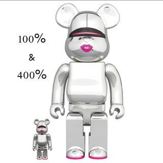 メディコムトイ(MEDICOM TOY)のBE@RBRICK SORAYAMA 2G SILVER 100%&400%(その他)