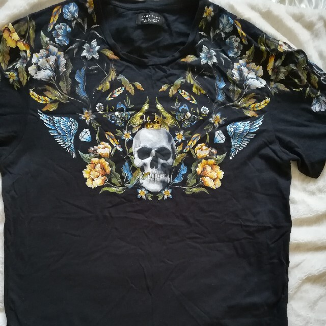 ZARA(ザラ)のZARA ザラメンズ Tシャツ L スカル メンズのトップス(Tシャツ/カットソー(半袖/袖なし))の商品写真