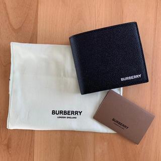 バーバリー(BURBERRY)の新品未使用 正規品 バーバリー Burberry ロゴ 折りたたみ財布 ブラック(折り財布)