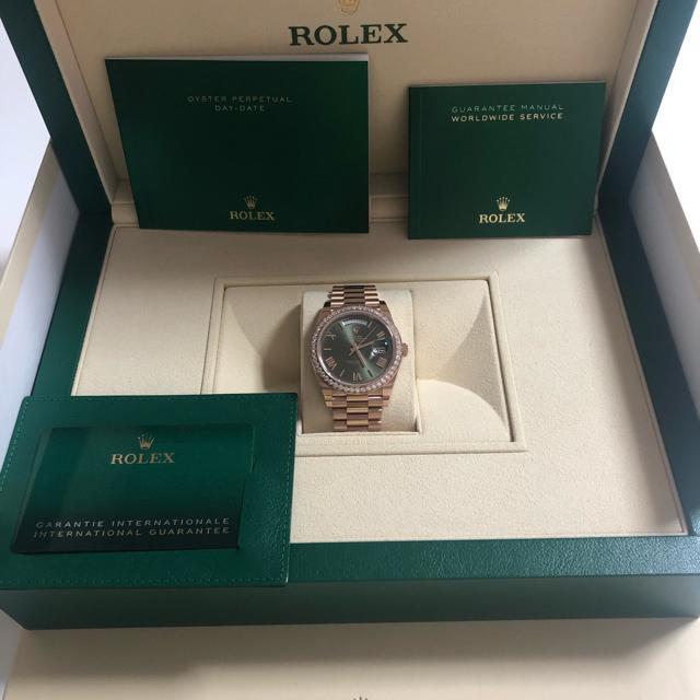 ROLEX(ロレックス)のロレックス デイデイト40 228345RBR グリーン 純正ダイヤベゼル メンズの時計(腕時計(アナログ))の商品写真