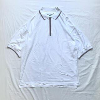 ゲス(GUESS)のold GUESS 90年代 USA製 ポロシャツ ハーフジップ ゆるだぼ レア(ポロシャツ)