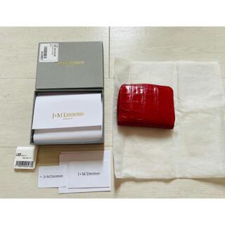 ジェイアンドエムデヴィッドソン(J&M DAVIDSON)の定価4.6万J&M DAVIDSON 型押し二つ折り財布 美品(財布)