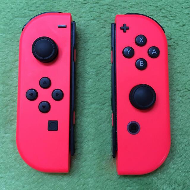 Nintendo Switch(ニンテンドースイッチ)のスイッチ ジョイコン ネオンレッドL R エンタメ/ホビーのゲームソフト/ゲーム機本体(家庭用ゲーム機本体)の商品写真