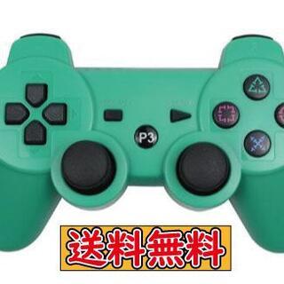 PS3 コントローラー グリーン 互換品 Bluetooth ワイヤレス(その他)
