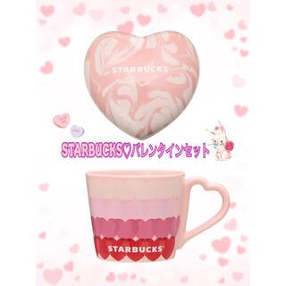 スターバックスコーヒー(Starbucks Coffee)のスターバックス💗ハートセット(グラス/カップ)