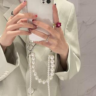 パールチェーン・iPhone11ケース カバー 韓国