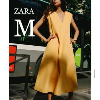 ZARA - 【新品・未使用】ZARA ベルト付き ミディ丈 ワンピース  M