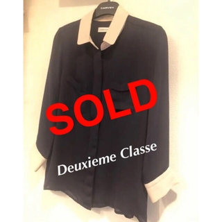 DEUXIEME CLASSE - ドゥーズィエムクラス★完売★バイカラーブラウス