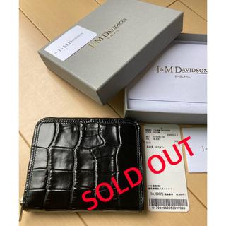 ジェイアンドエムデヴィッドソン(J&M DAVIDSON)の新品 J&M Davidson クロコ 折り財布 ウォレット(財布)
