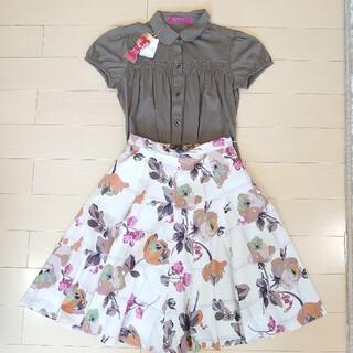 ドーリーガールバイアナスイ(DOLLY GIRL BY ANNA SUI)の✨ドーリーガールバイアナスイ フラワー スカート(ひざ丈スカート)
