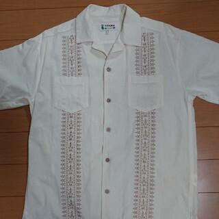 チチカカ(titicaca)のチチカカ 刺繍 半袖シャツ 開襟シャツ アロハシャツ エスニック(シャツ)