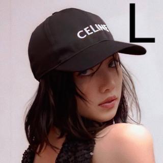celine - CELINE ベースボールキャップ / コットン ブラック レディースモデル L