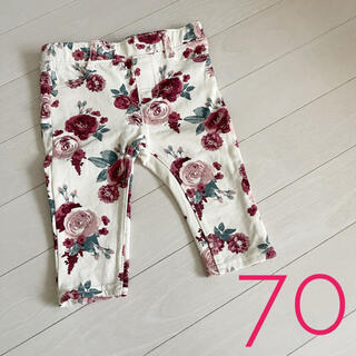 エイチアンドエム(H&M)のH&M 花柄ズボン パンツ 70サイズくらい(パンツ)