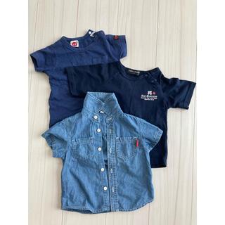 ニシマツヤ(西松屋)の男の子 半袖Tシャツ 3枚セット 90(Tシャツ/カットソー)