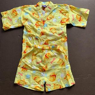 ディズニー(Disney)のディズニー プーさん  浴衣 甚平 サイズ100(甚平/浴衣)