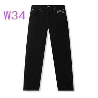 34 LEVIS WASTED YOUTH 501 DENIM BLACK