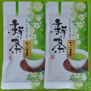 【奈良 大和茶】新茶!高級煎茶 特上かぶせ茶70g×2本 チャック付き袋(茶)