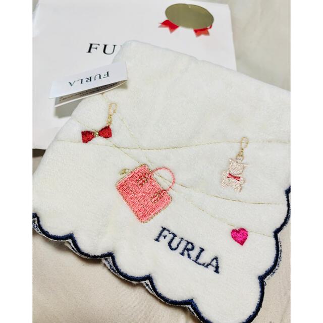Furla(フルラ)の新品未使用FURLA コットン100% タオルハンカチ レディースのファッション小物(ハンカチ)の商品写真