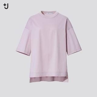 UNIQLO - UNIQLO +J オーバーサイズTシャツ ピンク Mサイズ