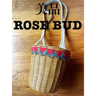 ROSE BUD - ROSE BUD【即納】かごバッグ ストローバッグ インポート バスケット 巾着