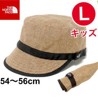 ザノースフェイス(THE NORTH FACE)のノースフェイス キッズハイクキャップ NNJ01811 ナチュラル 新品 KL(帽子)