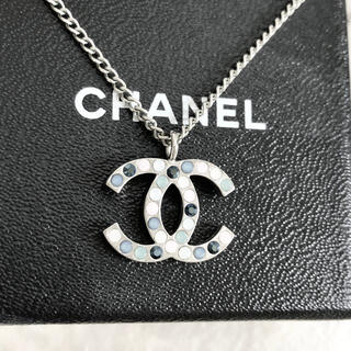 CHANEL - 正規品 シャネル ネックレス ココマーク マルチ ラインストーン シルバー 銀石