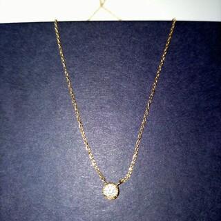 ☆美品☆K10YG 1粒ダイヤ(015ct)ネックレス(ネックレス)