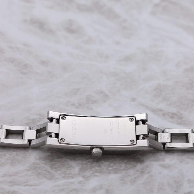 Gucci(グッチ)の箱付き【新品電池】GUCCI 110/動作品 動作良好 ブラック レディースのファッション小物(腕時計)の商品写真