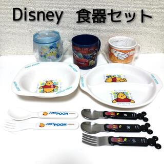 ディズニー(Disney)のDisney ディズニー コップ&お皿 食器 5点セット+おまけ付(離乳食器セット)