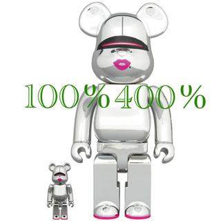 メディコムトイ(MEDICOM TOY)のBE@RBRICK SORAYAMA 2G SILVER 400% & 100%(その他)