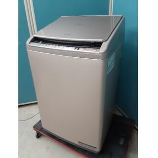 ヒタチ(日立)の2018年美品 日立タテ型洗濯乾燥機10.0kg/5.5kg  Bw-DV100(洗濯機)