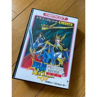 バンダイナムコエンターテインメント(BANDAI NAMCO Entertainment)のファミコン ドラゴンスピリッツ 箱・説のみ(その他)